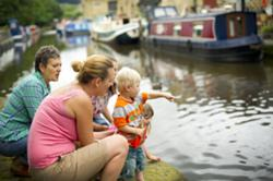 young children visit a canal